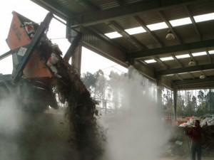nebulización agua supresión polvo