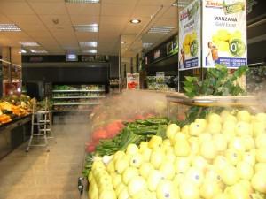 nebulizacion agua frutas y verduras